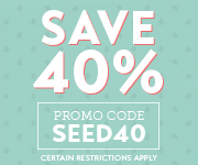 Save with promo code SEED40